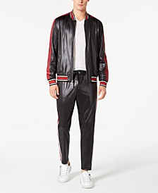 I.N.C. Men's Track Jacket & Joggers with Faux-Leather Piecing, Created for Macy's