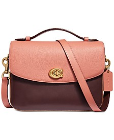 COACH Cassie Crossbody In Mixed Leather With Snake-Print