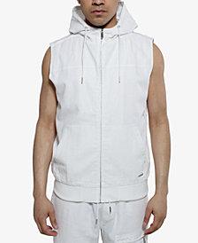 Sean John Men's Zip-Front Hooded Vest