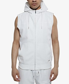 Sean John Men's Zip-Front Hooded Vest
