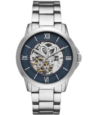 Mens Silver Tone Bracelet Automatic Watch 44mm