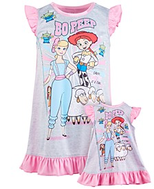 Big Girls 2-Pc. Toy Story Bo Peep Nightgown & Doll Nightgown Set