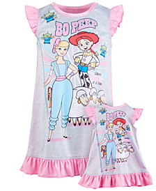 AME Big Girls 2-Pc. Toy Story Bo Peep Nightgown & Doll Nightgown Set
