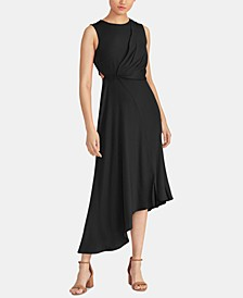 Noemie Draped Asymmetrical Dress