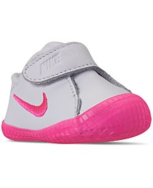 Nike Baby Girls' Waffle 1 Premium Crib Booties from Finish Line