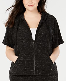 Ideology Plus Size Cropped Hoodie, Created for Macy's
