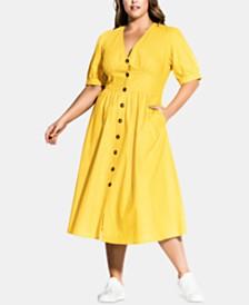 City Chic Trendy Plus Size Sunset Stroll Dress