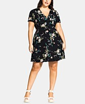 114aa9bbd70a6 City Chic Trendy Plus Size Floral-Print Fit & Flare Dress