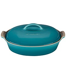 Stoneware 4-Qt. Heritage Covered Oval Casserole