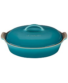 Le Creuset Stoneware 4-Qt. Heritage Covered Oval Casserole