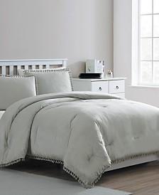 Giselle Velvet Tassel 3-Pc. King Comforter Set