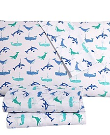 Whale Of A Time 4PC Full Sheet Set