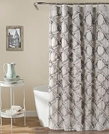 "Ruffle Diamond 72"" x 72"" Shower Curtain"
