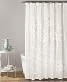 "Ruffle Flower 72"" x 72"" Shower Curtain"