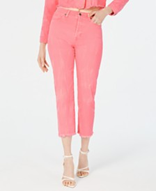 Kendall + Kylie Icon High-Rise Straight-Leg Jeans