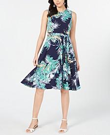 Petite Printed Midi Dress, Created for Macy's