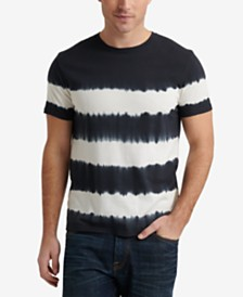 Lucky Brand Men's Tie Dye Stripe Crew