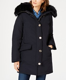 Michael Michael Kors Faux-Fur Trim Down Parka Coat, Created for Macy's