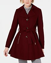 INC Skirted Walker Coat, Created for Macy's