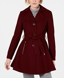 I.N.C. Petite Skirted Walker Coat, Created for Macy's