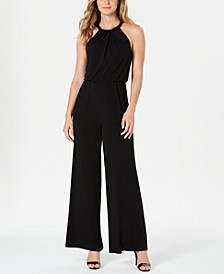 Beaded Blouson Jumpsuit