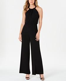 Calvin Klein Beaded Blouson Jumpsuit