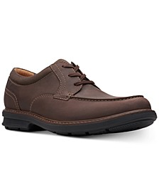 Men's Rendell Walk Dark Brown Leather Casual Lace-Up Shoes