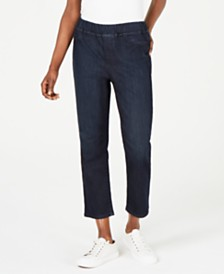 Eileen Fisher Pull-On Cropped Jeans, Regular & Petite