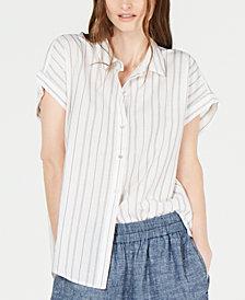 Eileen Fisher Striped High-Low Top, Regular & Petite