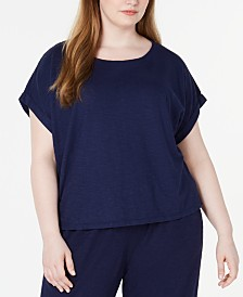 Eileen Fisher Plus Size Organic T-Shirt