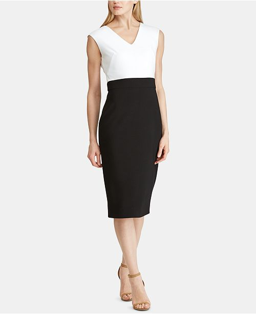 Lauren Ralph Lauren Colorblocked Sleeveless Dress