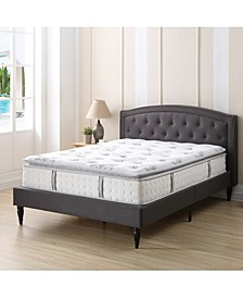 "Doran 12"" Wrapped Coil Hybrid Pillow Top Mattress- California King, Mattress in a Box"