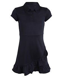Nautica Big Girls Ruffled-Hem Shirtdress