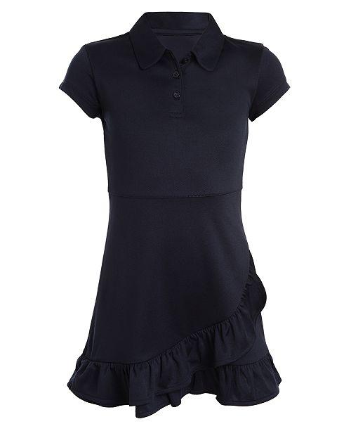 Nautica Big Girls Ruffled-Hem Shirtdress