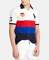 7bdc9714d Polo Ralph Lauren Men s Custom Fit Chariots Mesh Polo Shirt