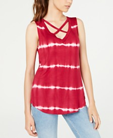 Ultra Flirt Juniors' Printed Crisscross Tank Top