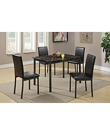 Faux Marble And Metal Frame 5 Pieces Dining Set