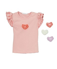 Little and Big Girls Interchangeable Heart Top