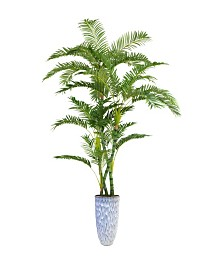 "Laura Ashley 91.5"" Palm Tree Artificial Faux decor in Resin Planter"
