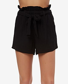 Juniors' Cameron Belted Shorts