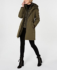 Fox-Fur-Trim Hooded Parka