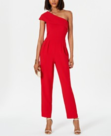 Vince Camuto One-Shoulder Jumpsuit