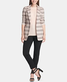DKNY Jacquard Jacket, Sleeveless Top & Ankle Pants