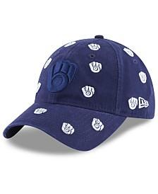 New Era Women's Milwaukee Brewers Logo Scatter Adjustable 9TWENTY Cap