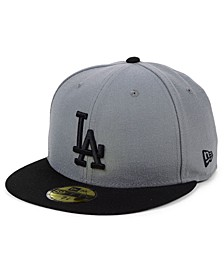 Los Angeles Dodgers Basic Gray Black 59FIFTY Fitted Cap