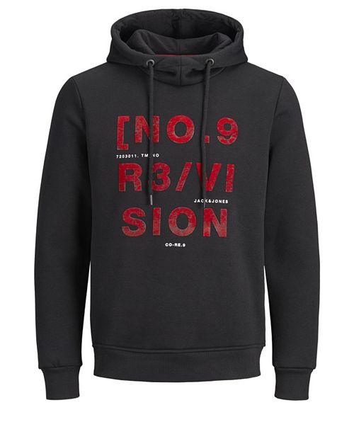Jack & Jones Men's Alphanumeric core hoodie