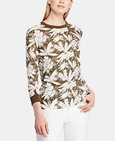 Botanical-Print Sweater