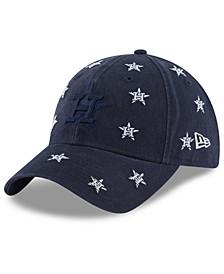 Women's Houston Astros Logo Scatter Adjustable 9TWENTY Cap