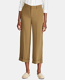 Lauren Ralph Lauren Twill Wide-Leg Pants