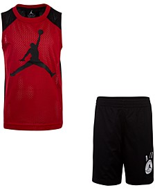 Little Boys 2-Pc. Jumpman-Print Tank Top & Shorts Set